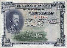 Spanien / Spain 100 Pesetas 1925 Pick 69c (2)