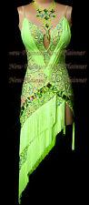 L3976 women ballroom Ramba Latin /Rhythm Samba US 6 Dance Dress fringes lace