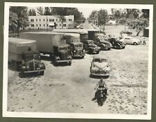 Vintage 1942 Relief Trucks Motorcycle Other Vehicles Miami Press Photo
