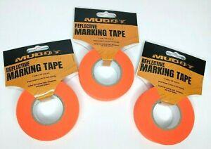 Hunter Gift Lot of 3 Rolls Orange Reflective Ribbon Marking Tape 150' each (450)