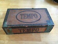 Vintage EMPTY Tempo Cigar Box 5 CENTS Long Filler Conn. Cigar Co's Hand Made