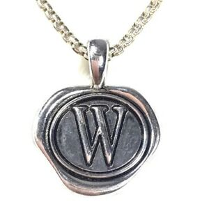 W Pendant Double Sided Initial Letter Pendant for Any Necklace NEW