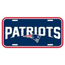 """NEW ENGLAND PATRIOTS 6""""x12"""" OFFICIAL LOGO LICENSE PLATE CAR BRAND NEW WINCRAFT"""