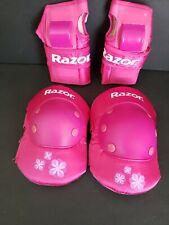Razor Pink Kids Knee/Hand Pads (Medium) Pre-Owned - Free Shipping