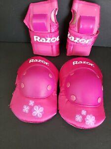 Razor Pink Kids Knee/Hand Pads (Medium) Pre-Owned --- FREE SHIPPING