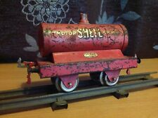 Hornby Series O gauge very early SHELL Motor Spirit petrol tank wagon c.1922