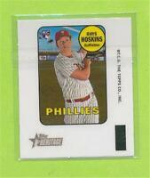 2018 Topps Heritage Mini Decal - Rhys Hoskins (#12)   Philadelphia Phillies