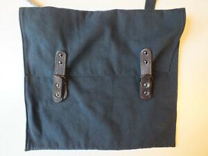 BILL AMBERG Blue brown Work Bag canvas Leather Satchel Messenger Briefcase