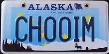 "ALASKA "" WILDLIFE CARIBOU - LAST FRONTIER "" AK Specialty Vanity License Plate"
