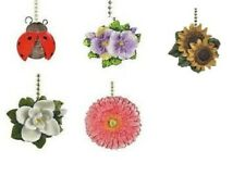 FLOWERS & ANIMALS CEILING FAN PULL -LADY BUG, MAGNOLIA, DAISY, PANSY, SUNFLOWERS