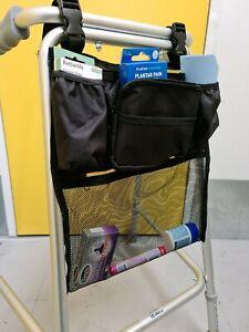 Bag with pockets for Walking Zimmer Frame Rollator Walker Wheelchair