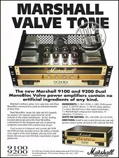 Marshall Dual Monobloc Value 9200 guitar amp 8 x 11 advertisement 1993 ad print