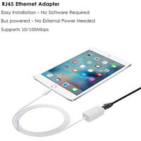 1M Ethernet Adapter Cable Phone to RJ45 LAN Wired Network for iPhone XR 6 8 iPad