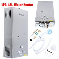 18L LPG Gas Water Heater Heisswasserbereiter Durchlauferhitzer Wasserboiler 32KW