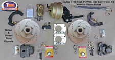 "1949-1953 DODGE B100 FRONT POWER DISC BRAKE KIT - 11"" Drilled and Slotted Rotors"