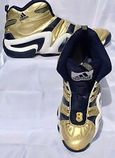 ADIDAS GAME ISSUED NOTRE DAME BASKETBALL SHOES GOLD & NAVY