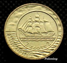 COMMEMORATIVE COIN OF POLAND - HISTORY OF POLISH ZLOTY SAILING VESSEL (MINT)