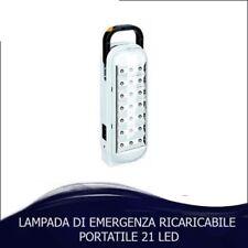 LAMPADA DI EMERGENZA RICARICABILE 21 LED 1300MAH SICUREZZA CASA PORTATILE LUCE