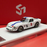 New 1/64 Scale MY64 250GTO S/N 4219 GT #9 Laguna Seca 1963 White  Car model