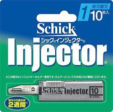 Schick Razor Blade Refill Injector 10P New Japan