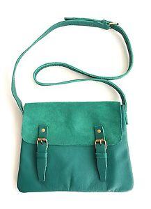 Genuine cow leather women sling satchel bag handbags