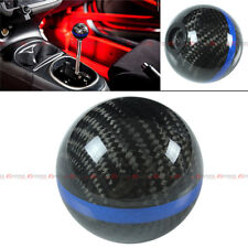 M8 X 1.25 CARBON FIBER JDM AUTO TRANSMISSION SHIFT KNOB W/ BLUE STRIP FOR SCION