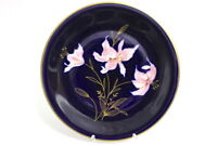 Edelstein Kuchenteller Kobalt Blumendekor