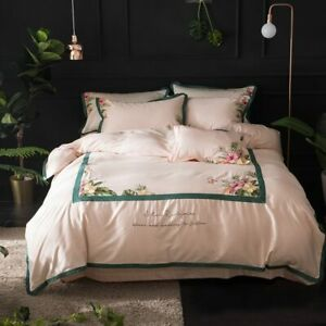Bedding Set Queen King Size Duvet Cover Bedsheet Set Egyptian Cotton Embroidery