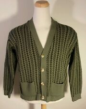 Rare Vintage Eskimo Knitwear 1950's Rockabilly Sweater Cardigan XL England