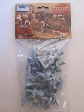 Paragon - Alamo Mexican Soldiers x 12, 1/32 54mm Unpainted Plastic, Light Blue