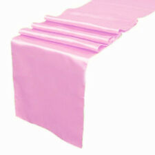 "Satin Table Runner 20 pcs 12""X108"" lines Wedding venue party decoration - Pink"