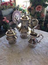 Vintage Kent Silversmith Coffee/Tea Silverplate Set With Cream and Sugar Service