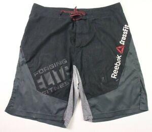 Reebok Crossfit Mens Chalk Slim Fit Training Fitness Board Shorts B83624 DD29