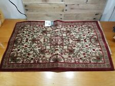 """JCPenney Home 21"""" X 34"""" Emmissary Oblong Brick Red Area Rug Brand New"""