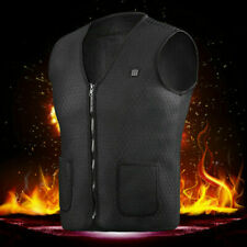 Electric Vest Heated Cloth Jacket USB Warm Up Heating Pad Body Warmer Winter L