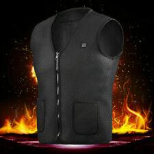 Electric Vest Heated Cloth Jacket USB Warm Up Heating Pad Body Warmer Winter L