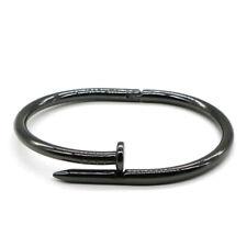 Nagel Armreif Armband Armspange Farbe Schwarz d3