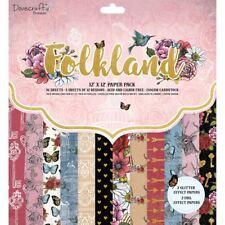 "Dovecraft Premium Folkland Paper Craft Collection - 12x12"" Paper Pad"