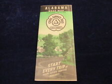 Vintage 1940's Revised Alabama Cities Service Gas Oil State Highway Road Map