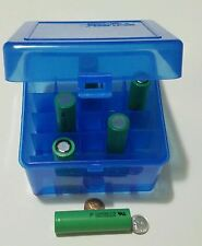 Battery Holder Storage Box Case for 18650 Container Holds 25 Batteries Display