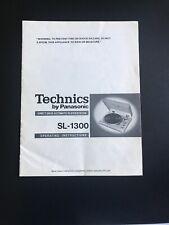 Technics SL-1300 Brochure