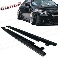 Carbon Fiber GR Side Extension Add Lip For BMW 06-10 E60 M5 Sedan Bumper Only