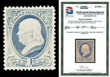 Scott 206 1881 1c Franklin Re-Engraved Issue Mint XF OG Small HR with PSE CERT!