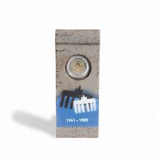Elément du Mur de Berlin avec capsule pour 1 pièce de 2 euros commémorative