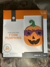 New! Halloween Pumpkin Foam Craft Dyi Set Makes 20 Pumpkins! Make Your Own Kit