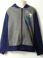 BOYS NIKE AGE 6-7 YEARS NAVY GREY HOODED ZIP UP TRACKSUIT JACKET TOP