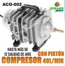 Compresor de aire 40l/min potente acuario pecera hidroponia bomba aireador
