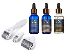 Micro-Needle DERMA ROLLER 3 PIECE SET+ EGF + Collagen + 24K Gold Serum - 3x30mL