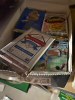 Factory Sealed LOT OF NEW OLD VINTAGE UNOPENED MLB BASEBALL CARDS IN PACKS Bonus