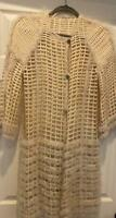 Coat Sweater Fendi Winter White Size 42 100% Cotton Cut Out Design Made in Italy